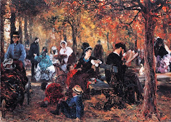 In the Luxembourg Gardens by Adolph von Menzel