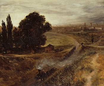 The Berlin-Potsdam Railway by Adolph von Menzel