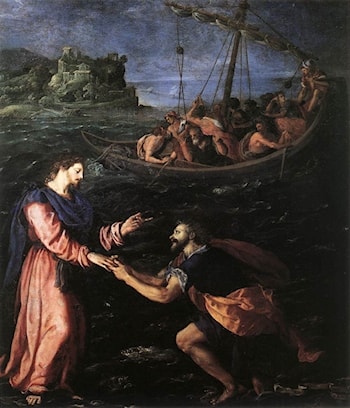 St Peter Walking on the Water by Alessandro Allori