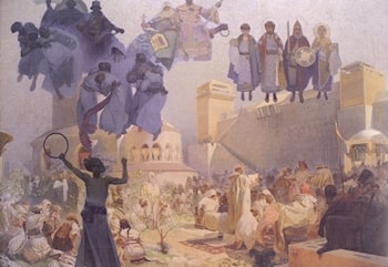 The Slav Epic: No. 3: The Introduction of Slavonic Liturgy by Alphonse Maria Mucha