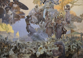 The Slav Epic: No.2: The Celebration of Svantovít: When Gods Are at War, Salvation is in the Art by Alphonse Maria Mucha