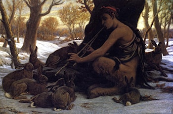 Marsyas Enchanting the Hares by Elihu Vedder