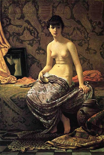 Roman Model Posing by Elihu Vedder