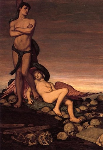The Last Man by Elihu Vedder