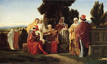 The Music Party by Elihu Vedder