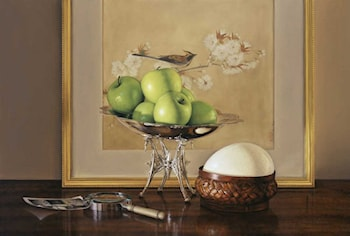 Green Apples, Ostrich Egg, Compote by Jeremiah Stermer