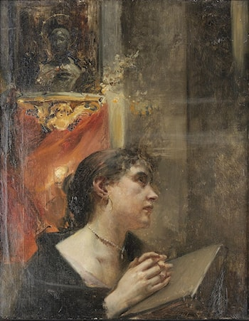 Praying in the Church by Eduard Veith