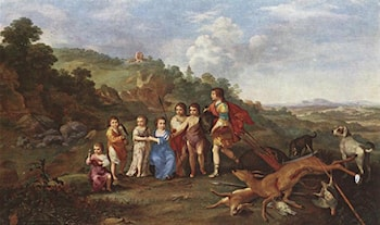 Children of Frederick V Prince Elector of Pfalz and King of Bohemia by Cornelis van Poelenburgh