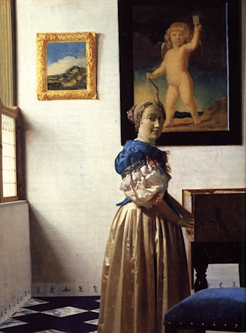 Lady Standing at a Virginal by Johannes Vermeer