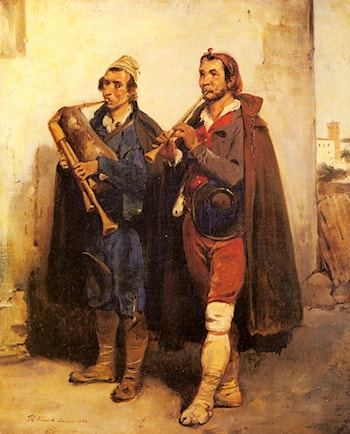 Village Musicians by Horace Vernet