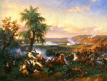 The Battle of Habra, Algeria, in December 1835 Between Emir Abd El Kadar and the Duke of Orleans by Horace Vernet