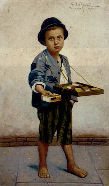 The Little Match Seller by Giulio Del Torre