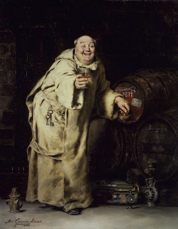 Monk Testing Wine by Antonio Salvador Casanova Y Estorach