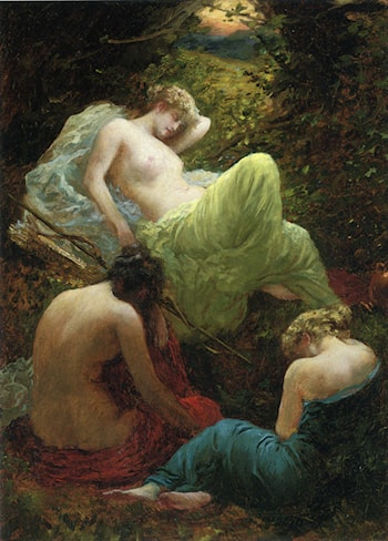 The Siesta of Dryad by Thomas Benjamin Kennington