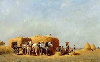 The noonday meal by Jules Jacques Veyrassat