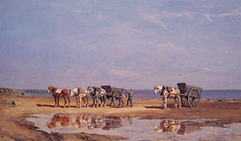 Loading the Wagon by Jules Jacques Veyrassat