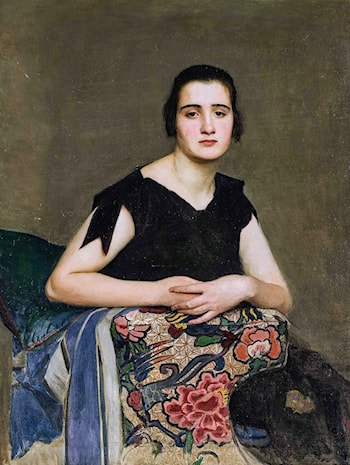 The Black Dress by George Spencer Watson