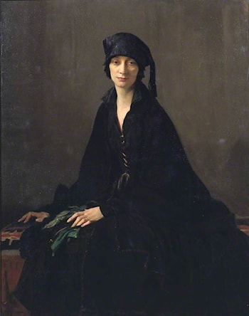 A Lady in Black by George Spencer Watson