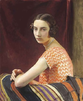 The Orange Dress by George Spencer Watson