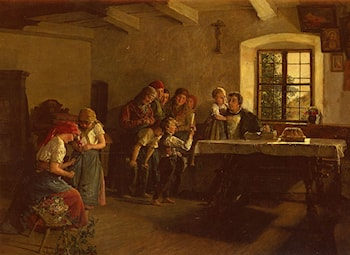 The Center of Attention by Ferdinand Georg Waldmuller