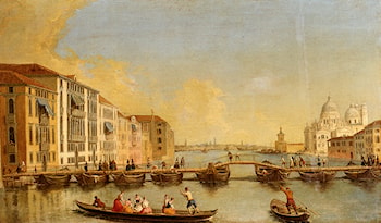 View Of The Grand Canal And Santa Maria Della Salute, Venice by Johann Richter