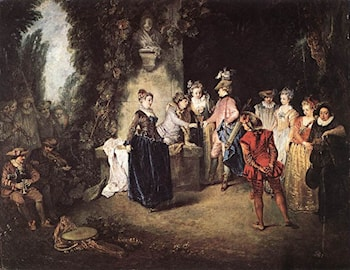 The French Comedy by Jean-Antoine Watteau