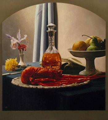 Still Life with Bourbon and Lobster by Luis Jose Estremadoyro