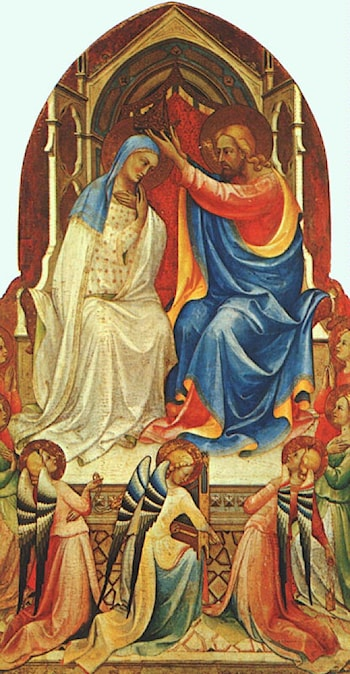 Coronation of the Virgin and Adoring Saints by Lorenzo Monaco