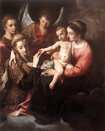 The Mystic Marriage of St Catherine by Annibale Carracci