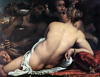Venus with a Satyr and Cupids by Annibale Carracci