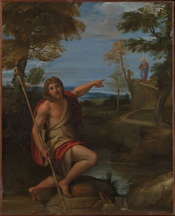 Saint John the Baptist Bearing Witness by Annibale Carracci