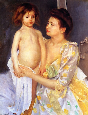 Jules Being Dried by His Mother by Mary Cassatt