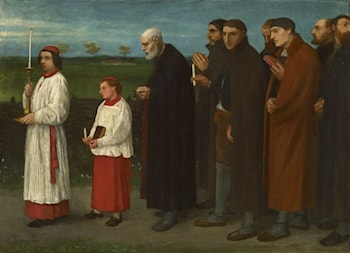 The Procession by Alphonse Legros