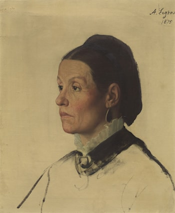 Portrait of a Woman by Alphonse Legros