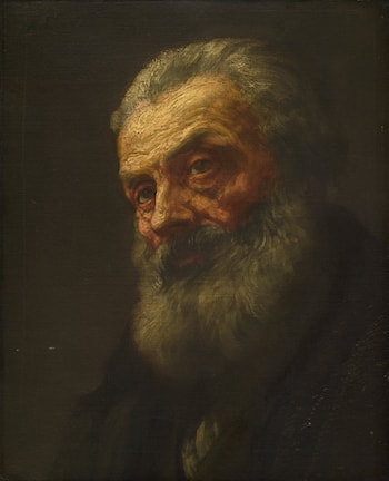 Portrait of an Old Man by Alphonse Legros