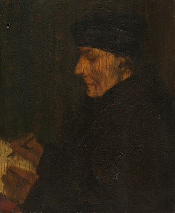 Memory Copy of Holbein's Erasmus by Alphonse Legros