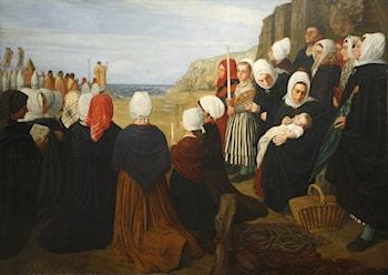 The Blessing of the Sea by Alphonse Legros