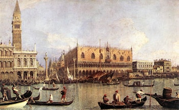 Palazzo Ducale and the Piazza di San Marco by Canaletto