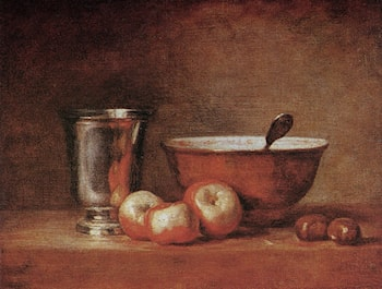 The Silver Cup by Jean-Baptiste-Simeon Chardin