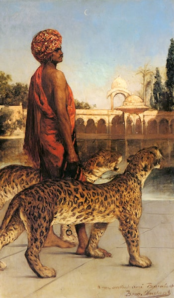 Palace Guard with Two Leopards by Benjamin Jean Joseph Constant