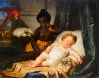 Watching The Baby Sleep by Hermann Brucke