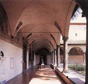 Courtyard by Michelozzo Di Bartolomeo