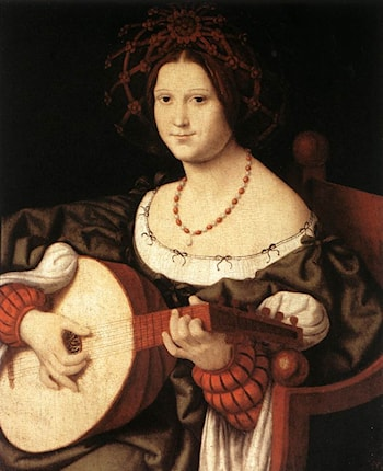 The Lute Player by Andrea Solario