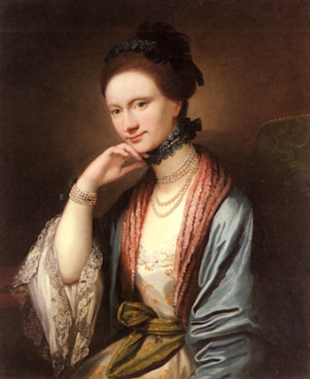 Portrait of Ann Barbara Hill Medlycott (1720­1800) by Benjamin West