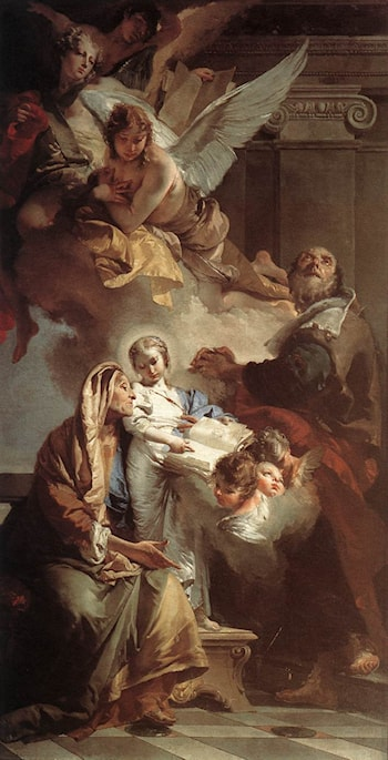 Education of the Virgin by Giovanni Battista Tiepolo