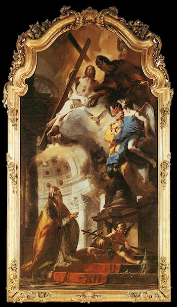 Pope St Clement Adoring the Trinity by Giovanni Battista Tiepolo
