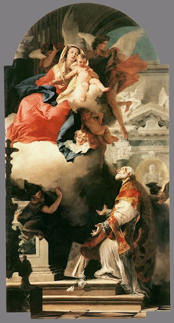 The Virgin Appearing to St Philip Neri by Giovanni Battista Tiepolo