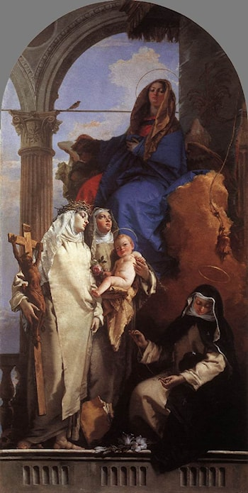 The Virgin Appearing to Dominican Saints by Giovanni Battista Tiepolo