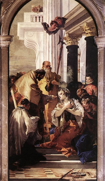 Last Communion of St Lucy by Giovanni Battista Tiepolo