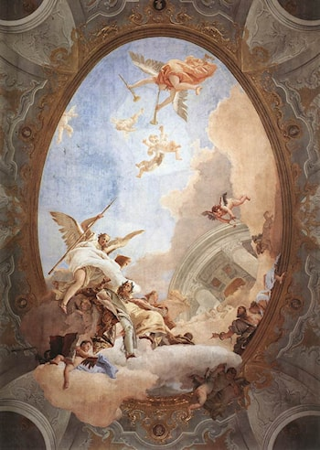 Allegory of Merit Accompanied by Nobility and Virtue by Giovanni Battista Tiepolo